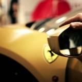 Car Wrapping Ferrari 458 Italia Oro Spazzolato