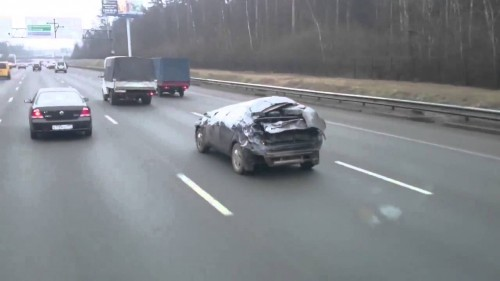 Le autostrade in Russia sono molto tolleranti