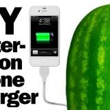 Ricarica il tuo iphone con un melone