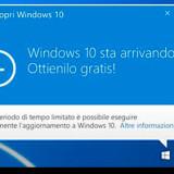 Come RIMUOVERE icona aggiornamento Windows 10